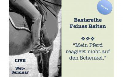 Mein Pferd reagiert nicht auf den Schenkel (Modul 1 – Basisreihe Feines Reiten) – 39€