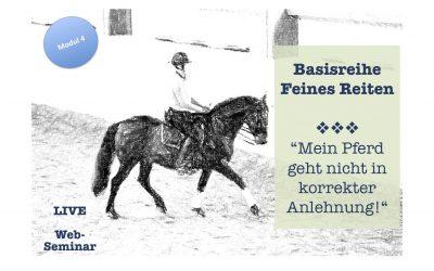 Mein Pferd geht nicht in korrekter Anlehnung (Basisreihe Feines Reiten – Modul 4) – 39€
